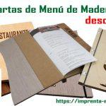 cartas de menu de madera